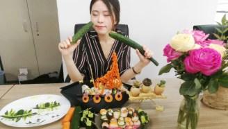 女白领办公室做回转寿司,同事吃了泪流满面,羡慕啊