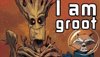 银河护卫队 树人格鲁特和火箭浣熊的初次相识【xx说漫画】