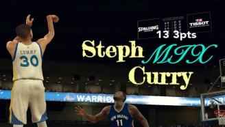 【NBA2K17】7分钟完整版 复刻斯蒂芬-库里13记三分破纪录之夜