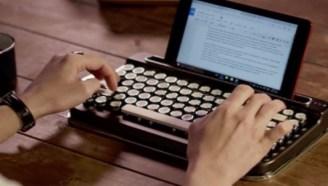 文艺范蓝牙键盘,全机械构造,连接3个设备可同时使用
