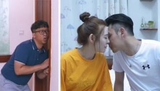 爸爸误开房门,女儿吓得慌张与男友分开!