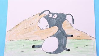 小爱的手作日记 简笔画可爱的小毛驴