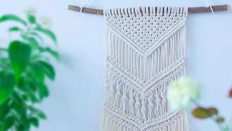 教你手工编织精美挂毯,两种平结轻松搞定,拯救你家白墙!
