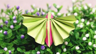 小爱的手作日记 简单漂亮的折纸飞蛾