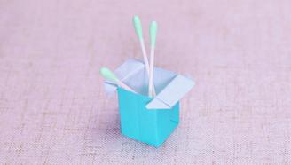 小爱的手作日记 折纸简单漂亮的棉签筒