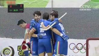 【轮滑世锦赛】双排轮滑球男子组:意大利VS智利视频集锦