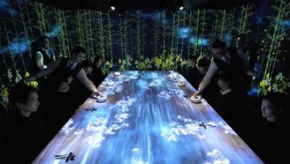 日本人吃饭又玩出新花样:一天只接客8个人的虚拟餐厅,世界首家