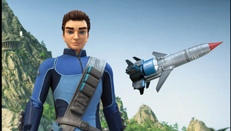 雷鸟1号超高速航空机和驾驶员斯科特