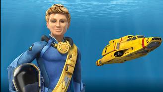 雷鸟4号水底搜救潜艇和驾驶员戈登