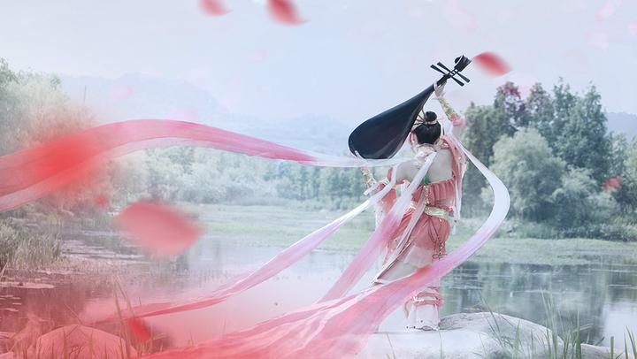 【晓十】翻跳 天女·伎乐 剑三七秀COS舞蹈 ----------一曲琵琶笙歌舞--------