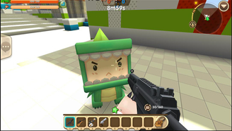 暗墨解说 迷你世界联机 多人小游戏小朋友枪战