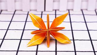 小爱的手作日记 折纸四瓣花