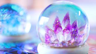手工制作神奇水晶球,浪漫梦幻,晚上夜光更好看