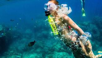 """什么原理?带这""""饮料瓶""""可在水下呼吸10分钟,能用打气筒充氧"""