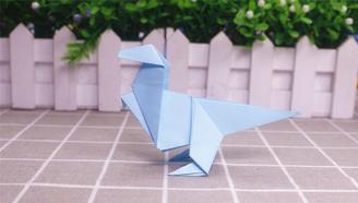 小爱的手作日记 可爱的折纸恐龙