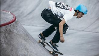 【亚运会滑板预选赛】滑板操纵力MAX的碗池高手 孙坤坤