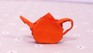 小爱的手作日记 折纸精致的小茶壶