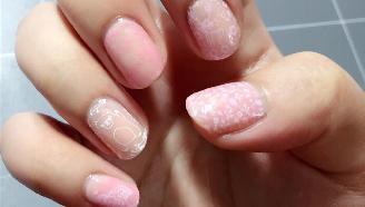 【美甲】涂个指甲~ 印花美甲-粉粉嫩嫩萌着过春天233--色差感人 实物明显但就是拍不出来的惆怅